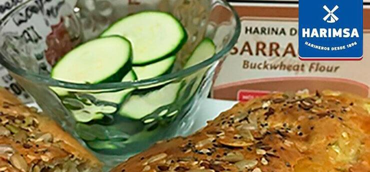 Pastel de trigo de harina sarraceno