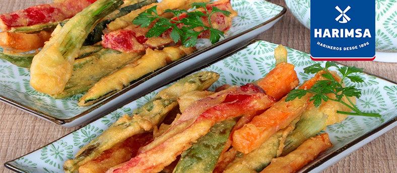 Rebozado de verduras con harina de Garbanzos HARIMSA