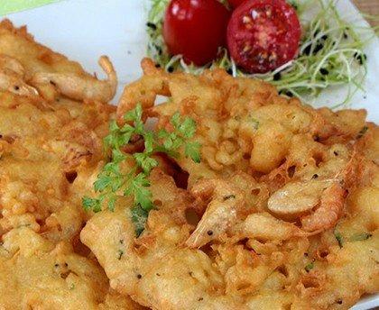 Tortilla de Camarones con Harinas Harimsa