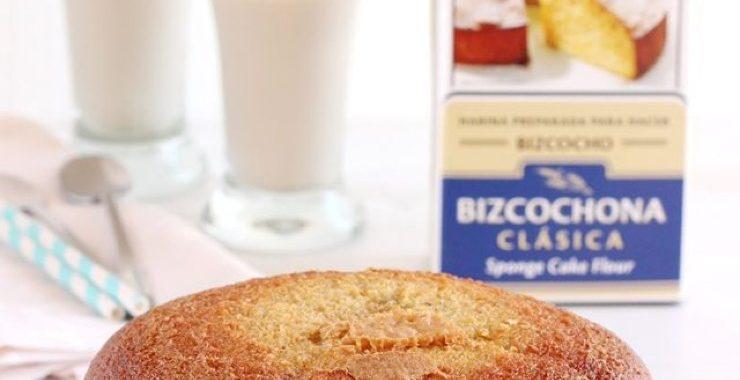 Coca boba de horchata con harina bizcochona Harimsa