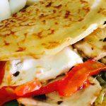 Crepes Harimsa con verduras y queso fresco