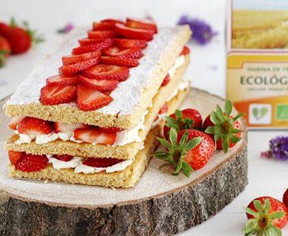 Tarta de Mascarpone y Fresas