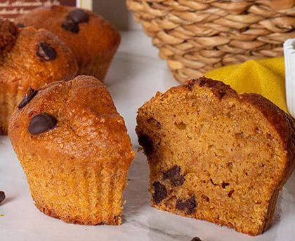 Muffins de boniato y cholcolate
