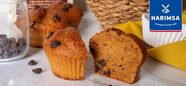 Muffins de boniato y chocolate