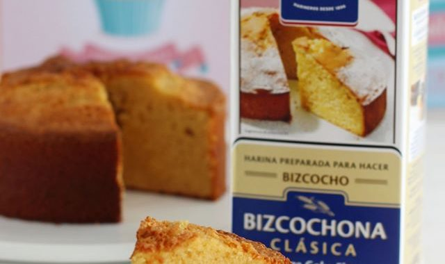 Bizcocho de Chocolate Blanco con Harina Bizcochona Clásica Harimsa