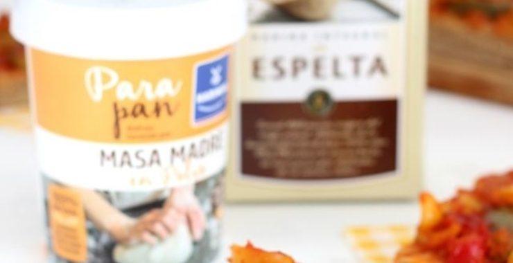 Coca de pisto con harina integral de espelta Harimsa