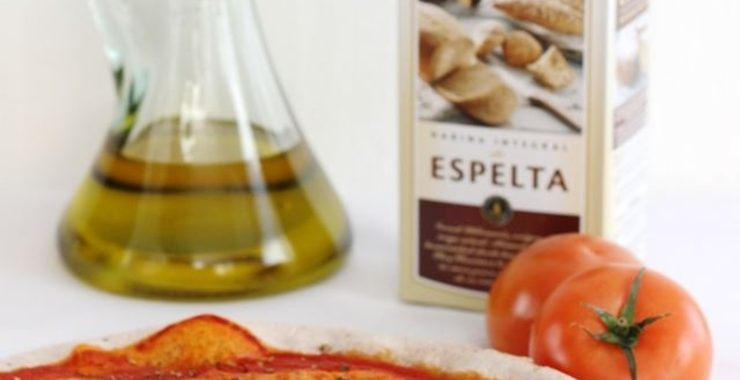 Pizza marguerita con harina integral de espelta Harimsa